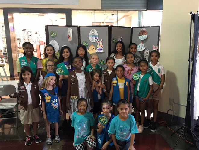 "In partnership with GPO, Guam Girl Scouts Troop #571, #360, and #722 hosted the annual ""Some-Bunny Cares About You!"" card-making event on Saturday, April 13, 2019. Over 200 get-well cards were made for those hospitalized this spring-time season. Pictured from left (Top Row): Celis Mcdonald, Emily Burgess, Megan Camacho, Vivian Wen, Kai'leah Quitugua, Eziana Ogo, Courtney Scharff (Middle Row) Zoe Glaze, Madelynne Sutton, Gweniver Sutton, Cordia Williams, Evie Young, Aurora Young, Lighlah Young, Zuri Mcdonald, Natania Aguon, Caedence Quinata, (Bottom Row) Penelope Cuaresma, Penelope Lujan, EmarraJo Quinata."