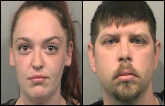 Amanda Setser, left, and Michael Setser have been arrested after a dog was left to starve in the couple's home.