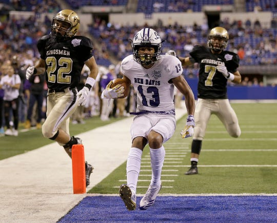 FILE – In the 2017 Class 6A state title game, Ben Davis beat Penn, 63-14. Under a new proposal, a mercy rule would call for a running fourth-quarter clock.