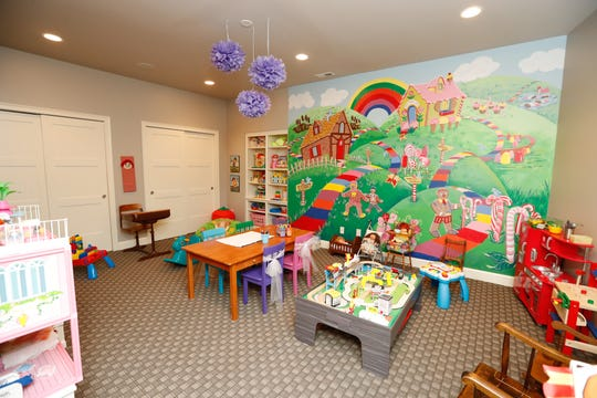 A walkout basement features a child's playroom, inside a 10,229 sq. foot home up for sale at 5347 N. 400, Bargersville, Ind., in the Mirada gated community, on Thursday, April 25, 2019. The single-family home, built in 2010, features five bedrooms, 2.49 acres on a stocked lake, six full baths, and two half baths.