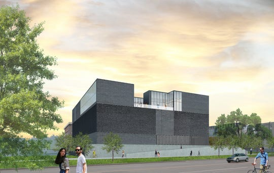A rendering of the future UI Stanley Museum of Art building from the south. The University of Iowa will host a ceremonial groundbreaking for the museum on June 7, 2019.