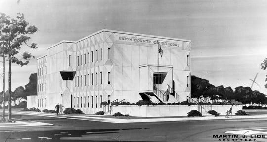 A rendering of the Union County Courthouse dated March 21, 1972.