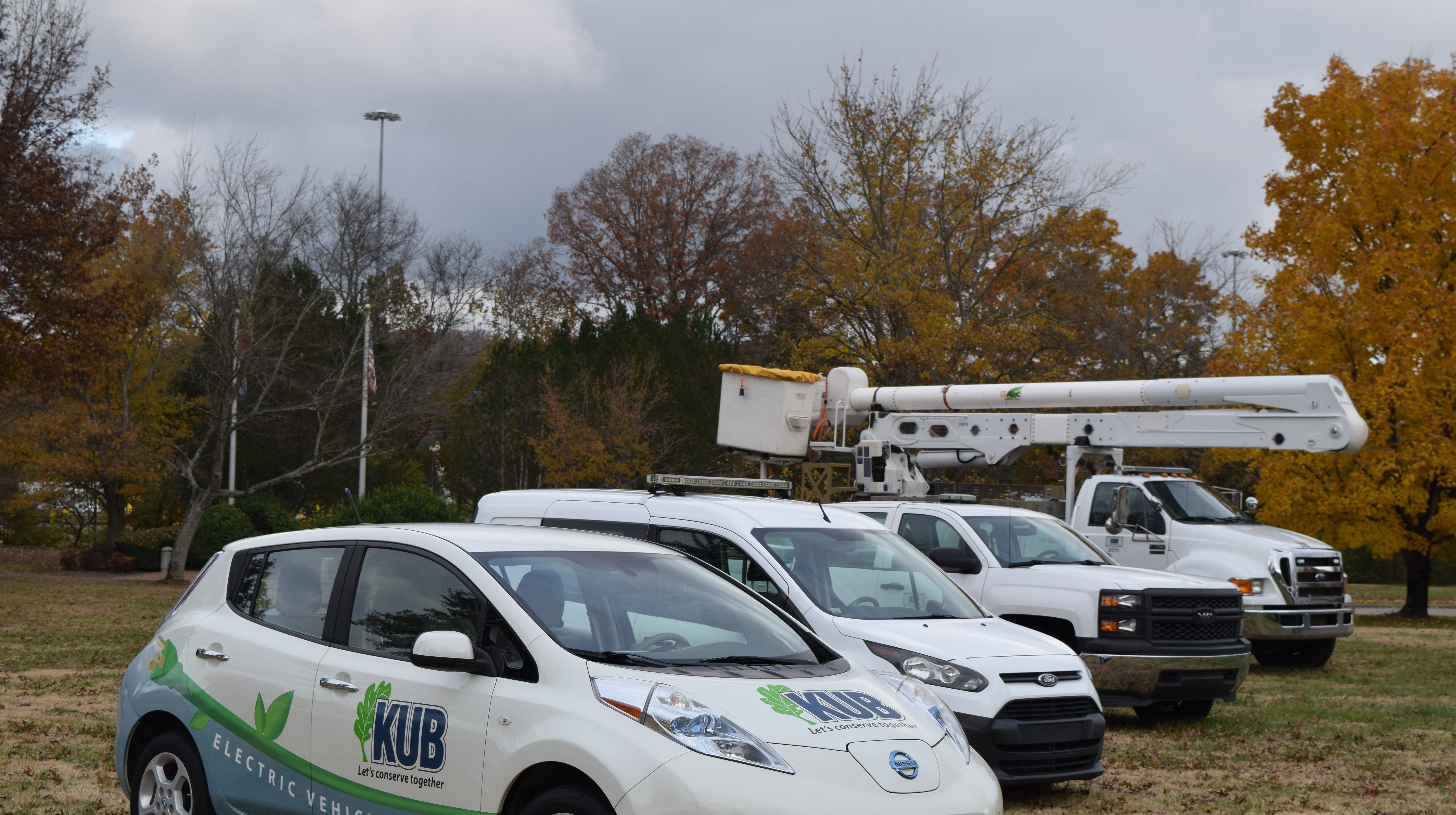 KUB's fleet includes vehicles powered by compressed natural gas, as well as electric and hybrid technology.