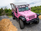 Take a ride with Pink Jeep Tours in Pigeon Forge, which offers excursions to the Smokies in their pink Jeep Wranglers