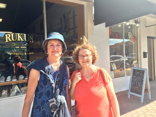 Teresa, 50, and  Nicole, 50, are from France and have been traveling across the United States for the last 24 days, including a pit-stop in Lafayette for festival.