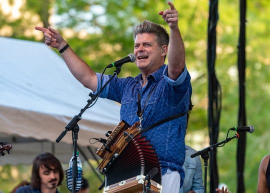 Festival International de Louisiane kicks off with Steve Riley and the Mamou Playboys. Wednesday, April 24, 2019.