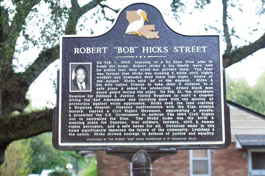 The house sits on a street that was renamed for Robert Hicks, whose story is told on a plaque there.