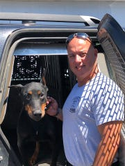 Niko, a retired K-9 with the Fowlerville Police Department, seen here with his partner Sgt. Jeff Soli, passed away Wednesday April 24, 2019. Niko retired last year.