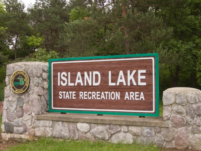 A bicyclist who was struck by a car in the Island Lake State Recreation Area in Green Oak Township on April 24, 2019 has died at an Ann Arbor hospital.