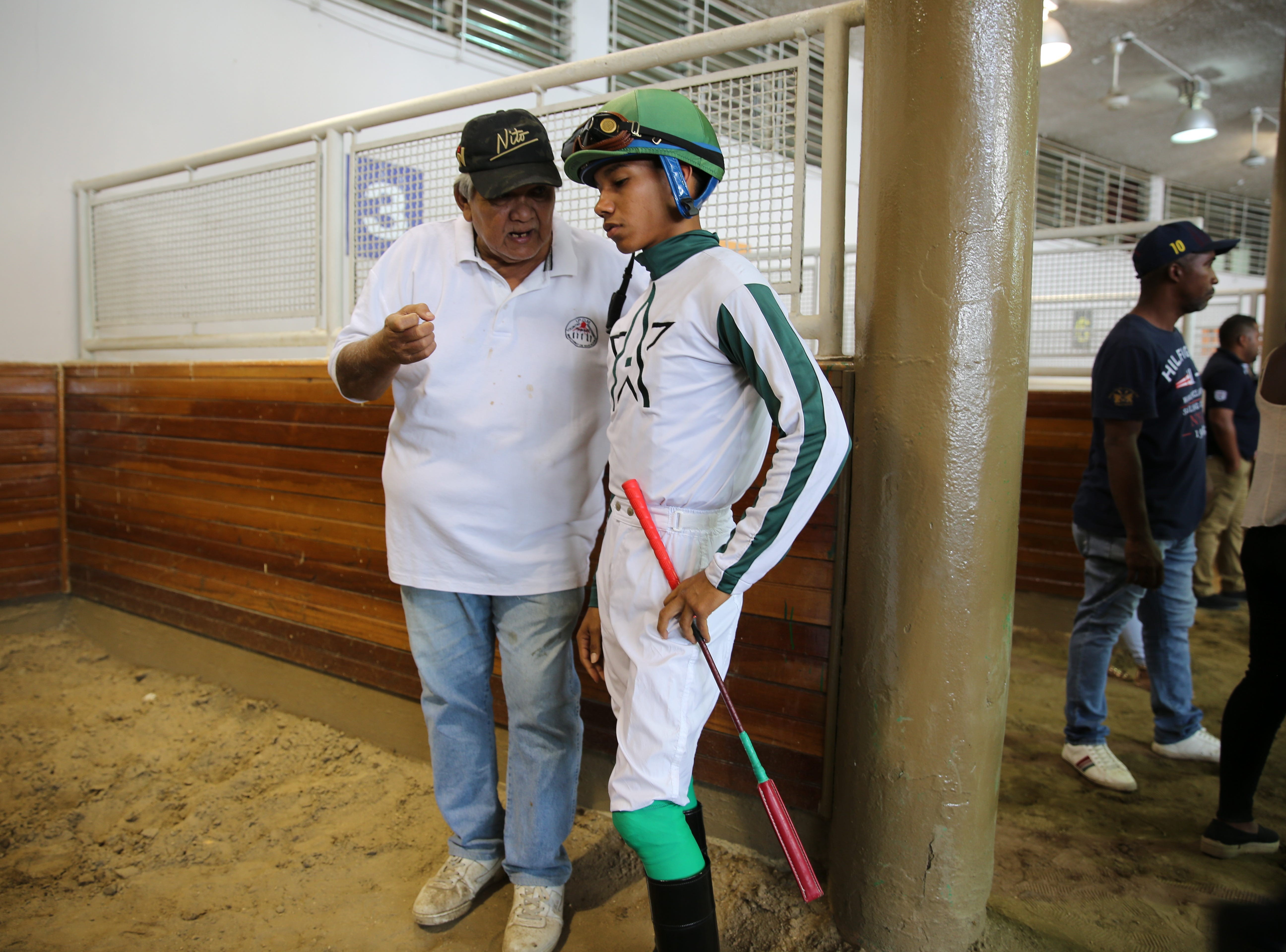 Juan Jimenez, 22, graduated two years ago from Panama's jockey school and is still racing in Panama in hopes of moving to the U.S.