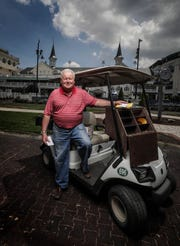 Jim Kessinger has been working as a mutuels clerk at Churchill Downs during live racing over the last 50 years.  He is responsible for making sure that clerks at each of the more than 1100 betting windows have all the supplies they need.