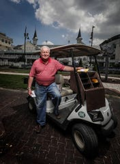 Jim Kessinger has been working as a mutuels clerk at Churchill Downs during live racing over the last 50 years.  He is responsible for making sure that clerks at each of the more than 1100 betting windows have all the supplies they need.April 24, 2019