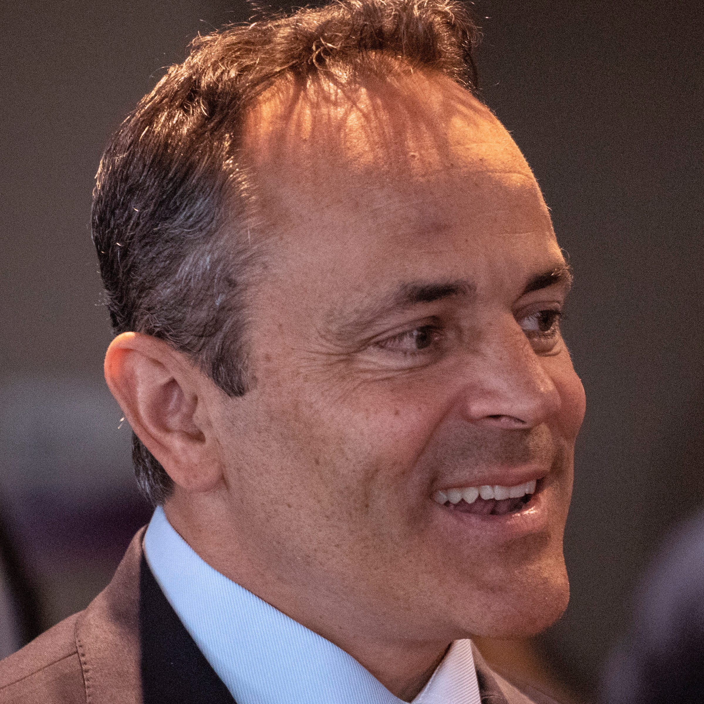 Kentucky Gov. Matt Bevin spoke to members of the Rotary Club of Louisville on Thursday afternoon at the Muhammad Ali Center. 4/25/19