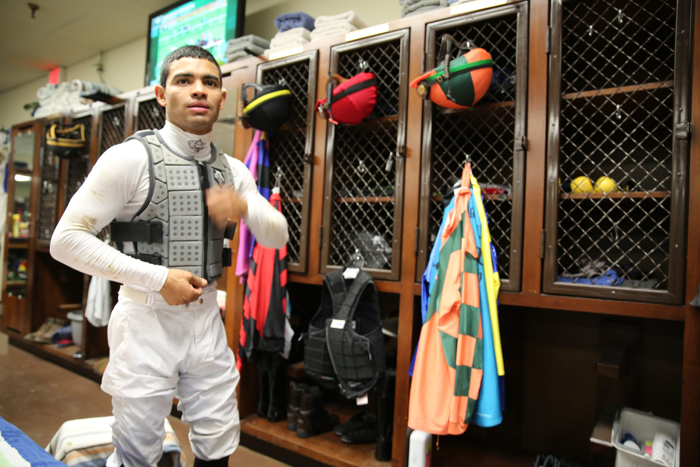 Top thoroughbred racing jockey Luis Saez, who is from Panama and graduated from its jockey school, is expected to race in this year's Kentucky Derby.
