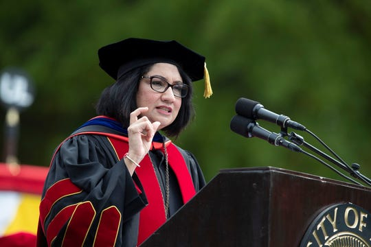 The University of Louisville's Neeli Bendapudi became president in 2018.