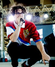Scott Utterback/Courier journal Jack Harlow performs on the Ocean stage at Forecastle on Saturday.