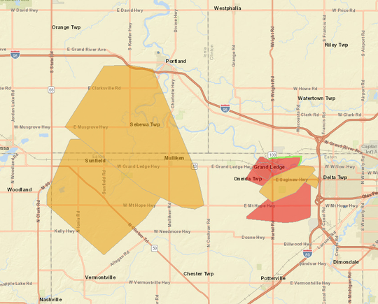 Power was restored to nearly 9,100 Consumers Energy customers in and around Grand Ledge affected by outages Thursday morning.