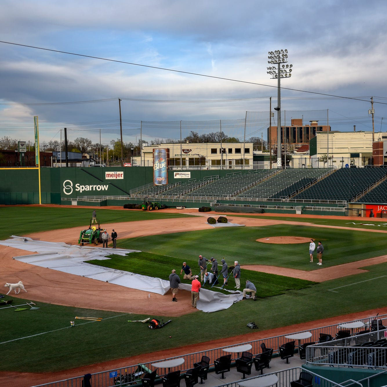 Here's how the grounds crew converts Cooley Law School Stadium from baseball to soccer