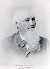 Osuld Torrison, one of the Norwegian settlers in Manitowoc Rapids. Founder of O. Torrison & Co. Dry Goods and General Merchandise business in Manitowoc.
