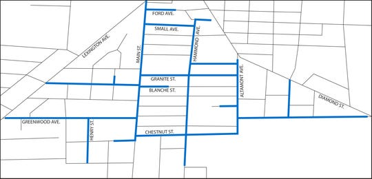 Columbia Gas of Ohio continues to repair and replace gas service lines in and around the area of South Main Street in Mansfield.