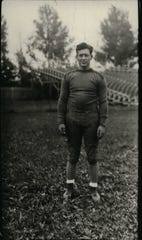 "1929: Earl ""Curly"" Lambeau, coach of the Green Bay Packers."