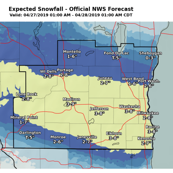 Up to 8 inches of snow could fall Saturday; forecasters revise potential accumulation higher