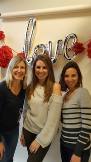 Julie Collins (left), Vanessa Fritz and Erin Guenterberg organized the second annual Love Your Belly event, which will take place May 11.