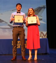 Luke Kruse and Leah Dewey were announced as Mr. and Miss MHHS on Wednesday.