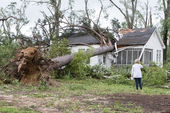 An early morning storm passed through Ruston, Louisiana on April 25, 2019, causing damage and two fatalities.