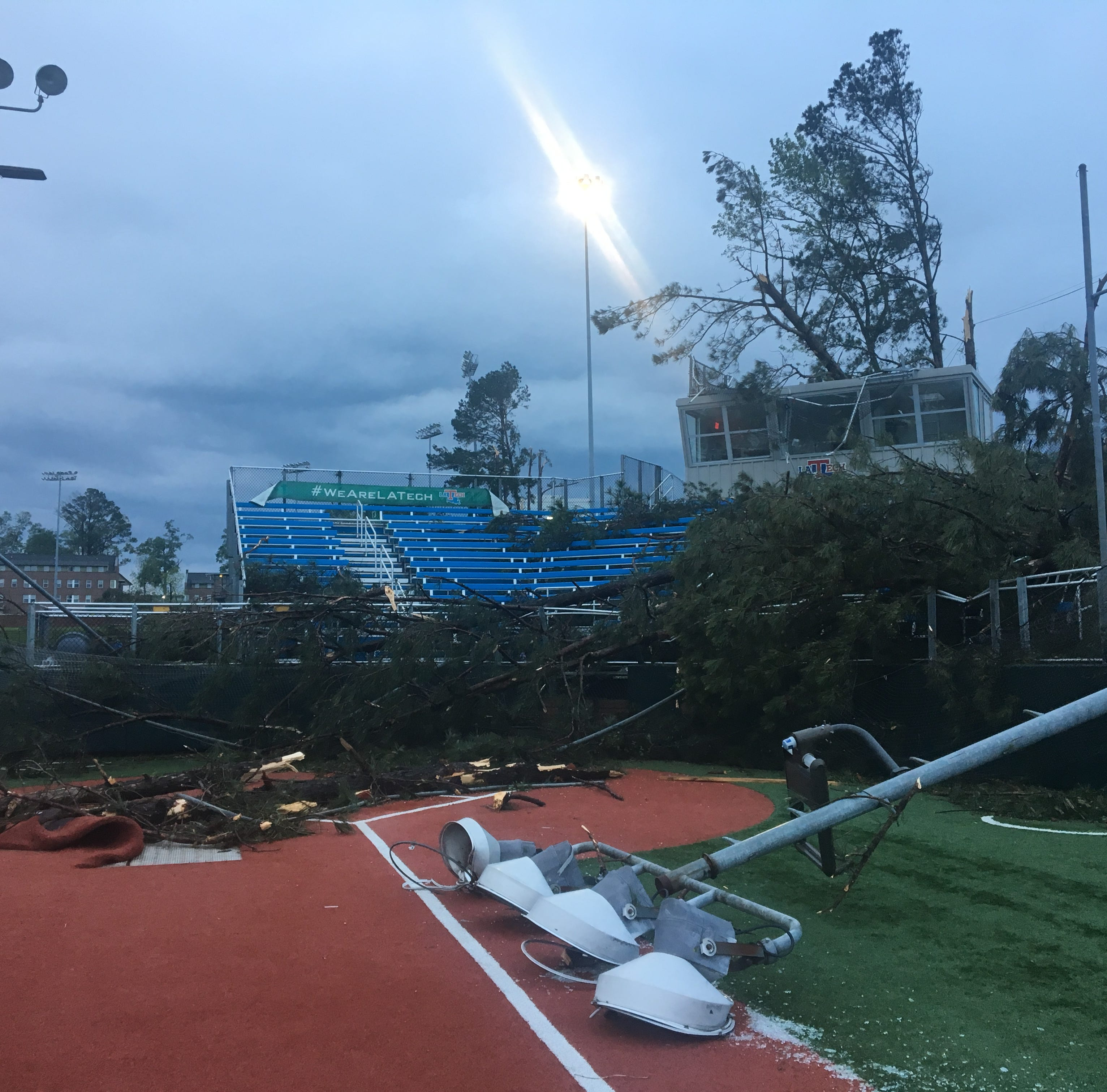 LA Tech sports facilities suffer 'severe damage' from early morning storm