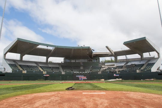 Louisiana Tech's baseball and softball stadium suffered extensive damage after an early morning tornado passed through Ruston, La. on April 25.