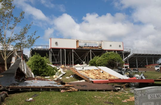 An early morning storm passed through Ruston, La. on April 25 causing damage and two fatalities.