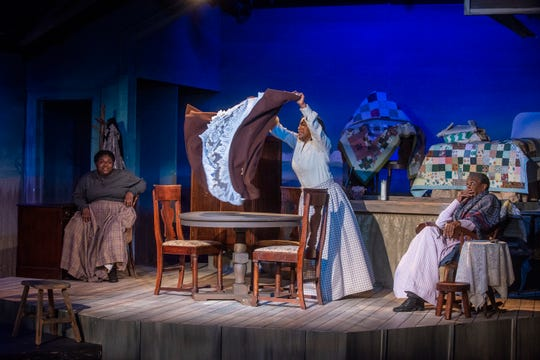 "A scene from Cloverdale Playhouse's production of the play ""Flyin' West,"" which runs through May 5, 2019, in Montgomery."