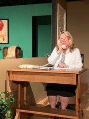 "Rae Ann Collier as Nurse Nancy. A scene from Millbrook Community Players production of ""Independence Day at Happy Meadows,"" which runs through May 5, 2019, in Millbrook."
