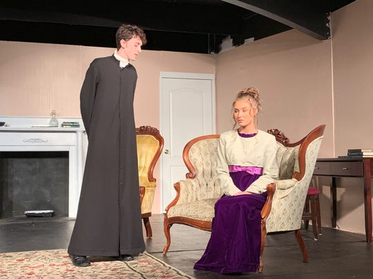 """A scene from Prattville's Way Off Broadway Theatre's production of """"Pride & Prejudice,"""" which runs through May 5, 2019, in Prattville."""