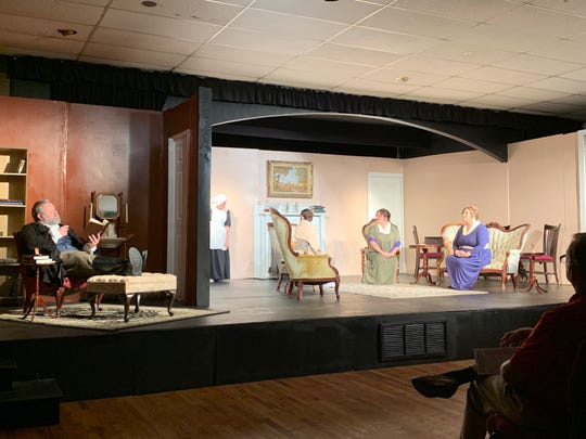 "A scene from Prattville's Way Off Broadway Theatre's production of ""Pride & Prejudice,"" which runs through May 5, 2019, in Prattville."