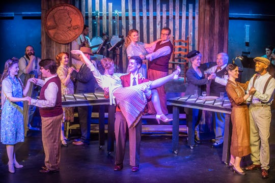 """A scene from Wetumpka Depot's production of the musical """"Bright Star,"""" which runs through May 11, 2019, in Wetumpka."""