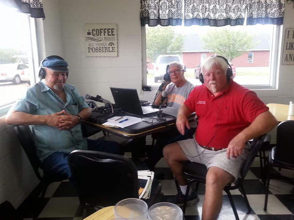 Recording the 'WGNS Truman Show' at Sylvan Park diner in Murfreesboro are, from left, the late Dan Whittle, former Rutherford County Sheriff and show host Truman Jones, and longtime friend Marty Luffman.
