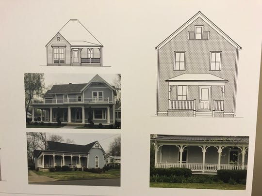 This rendering shows what some of the homes might look like at the redeveloped Oakland Court.