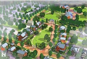 This rendering shows what the Oakland Court public housing development will look like.