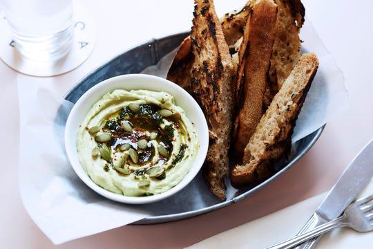 Avocado Hummus from Cafe Roze chefJulia Jaksic.
