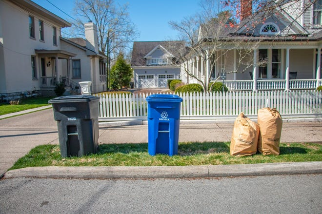 Franklin will start using blue bins rather than the blue bag system for recycling.