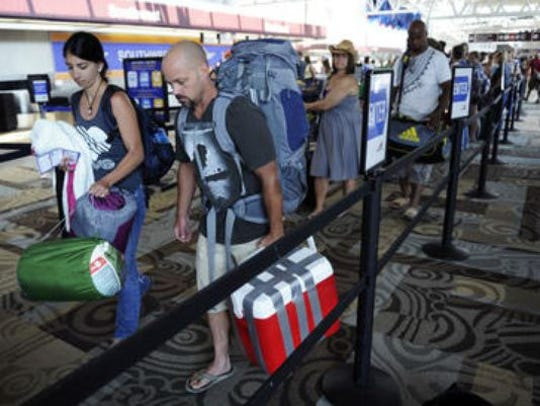 Nashville International Airport officials expect record numbers on Sunday and Monday.