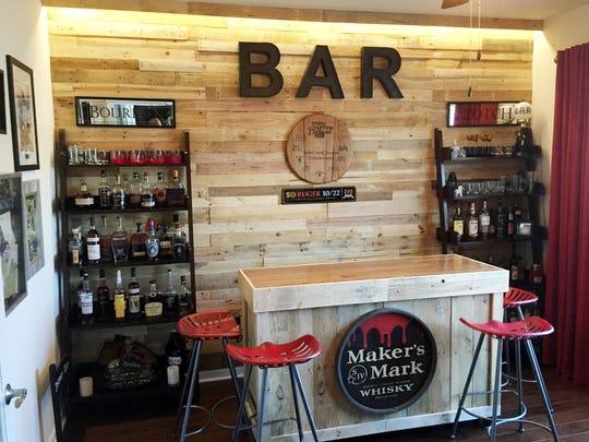 Bourbon tasting room by Scott and Teresa Gunderson.