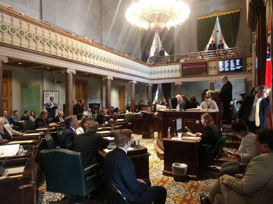 Lt. Gov. Randy McNally, R-Oak Ridge, presides over the Tennessee Senate on Thursday.