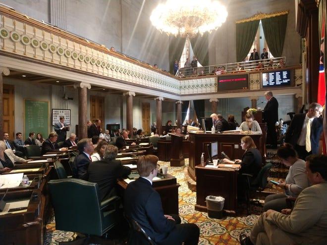 Lt. Gov. Randy McNally, R-Oak Ridge, presides over the Tennessee Senate on Thursday.