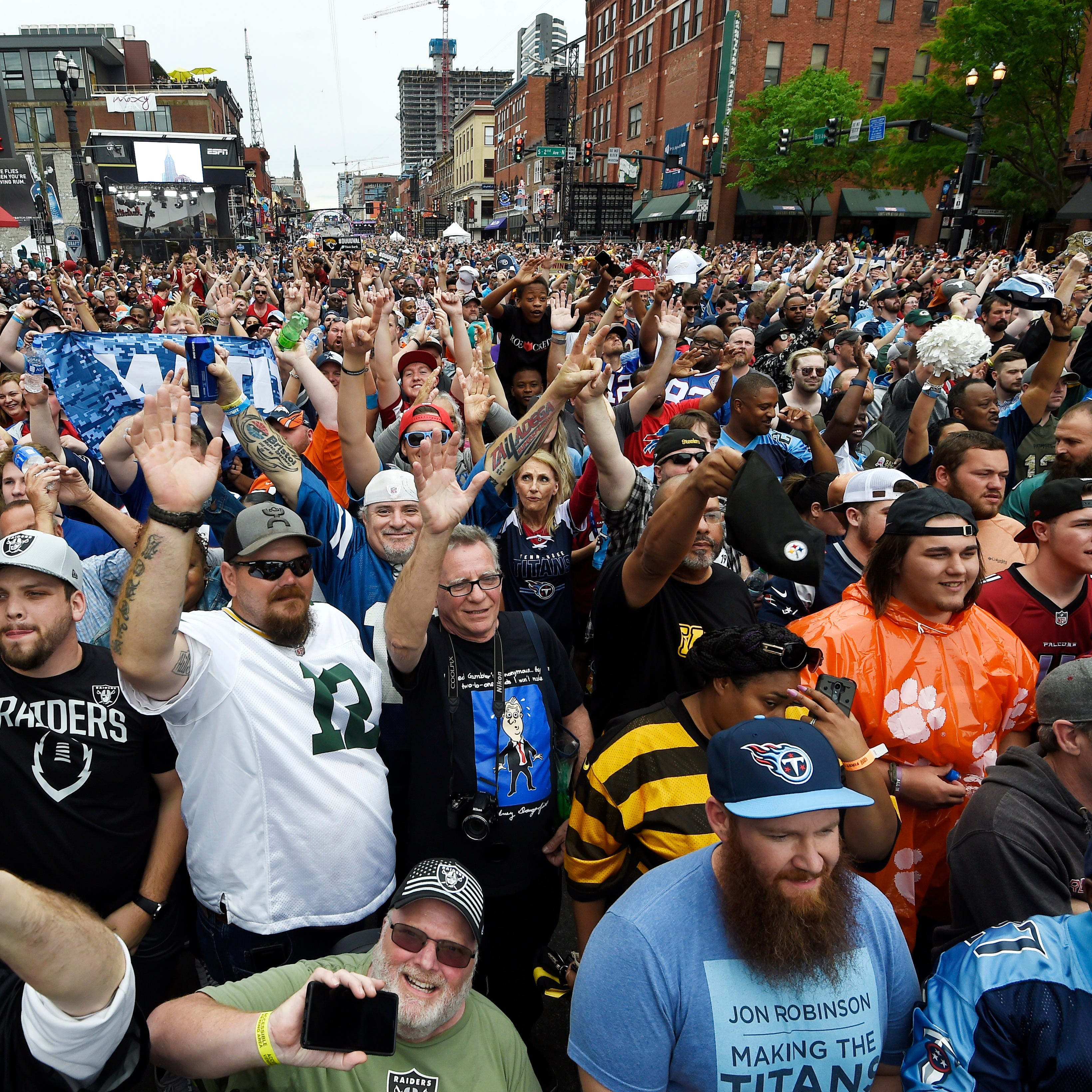 More than 100K fans turn Lower Broadway into a madhouse as NFL Draft takes over Nashville