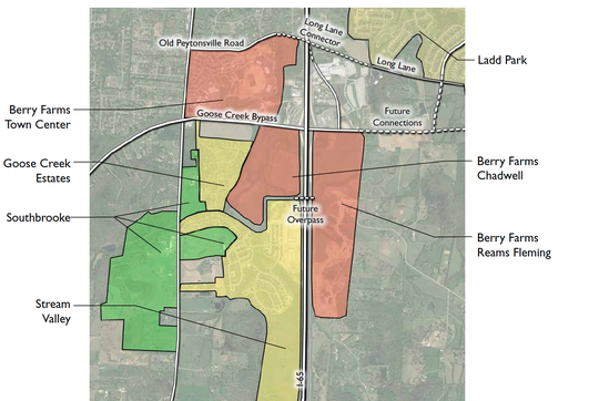 The developments around the proposed Southbrooke plan.