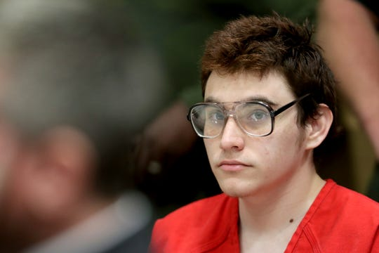 In this April 5, 2019, file photo, Parkland school suspect Nikolas Cruz listens during a hearing at the Broward Courthouse in Fort Lauderdale.