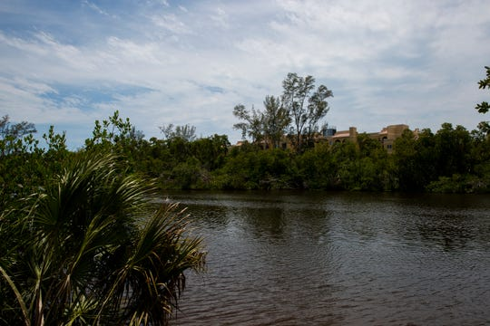 The Gordon River runs behind the Brookdale Naples, Thursday, April 25, 2019, in Naples.